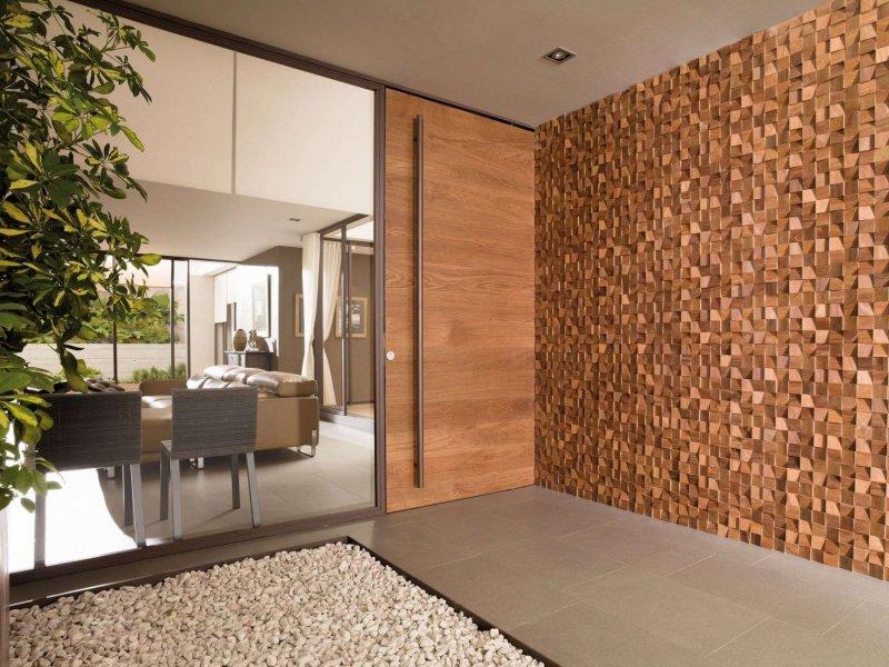 Деревянные 3D стеновые панели