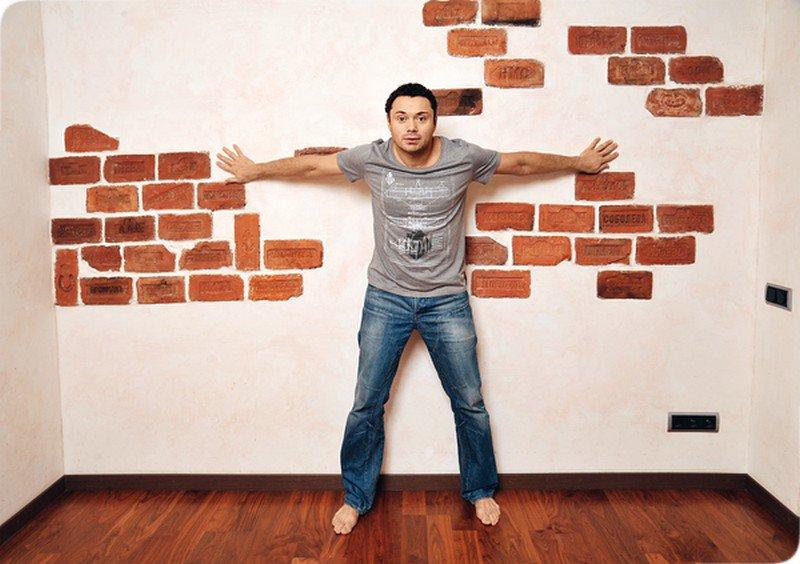 Имитация кирпичной стены своими руками (50 фото, видео)
